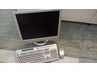 HP TFT Monitor (VS19e), mouse and keyboard