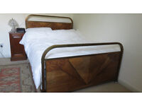 Vintage French art deco double bed.