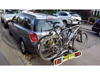 Bicycle carrier hire/rent for cars with towbar or attached to roof bars