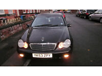 (53)2003 mercedes c class 1.8 petrol very good engine and gearbox.only £895
