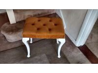 BEDROOM/PIANO STOOL IN GOOD CONDITION,YELLOW/MUSTARD VELOUR