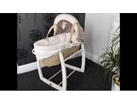 Baby Moses basket with stand (mamas & papas)