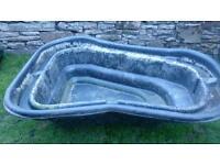 Moulded plastic pond for sale