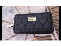 Betsey Johnston black heart purse / wallet