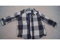 Baby boys Next checkered shirt 9-12 months