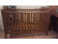 Mamas and Papas Wooden Baby Cot Bed - Converts to Junior Bed