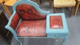 Shabby chic telephone seat