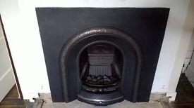 Multiglow Classic II gas fire with cast iron fireback insert