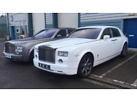 ROLLS ROYCE PHANTOM HIRE FERRARI LAMBORGHINI BENTLEY WEDDINGS PROMS
