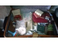 Mixed lot antique and vintage collectables included vintage case