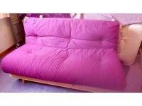 Double wooden frame sofa bed