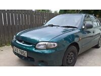 1999 Hyundai accent gsi 1.3 5dr green for parts or breaking