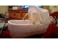 brand new without tags,never used moses basket/crib