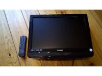 19inch lcd freeview tv built in dvd