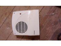 Dimplex electric fan heater wall mounted