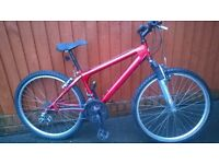 Red Mountain Bike... Good Looking and Good Value... Suitable for Youth or short Adult. £49