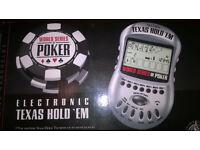 Texas hold em video game, hand held. Casino handhelds.