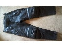 Ladies Size 16 Leather Motorbike Trousers