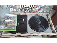 Xbox 360 Dj hero game & turntable