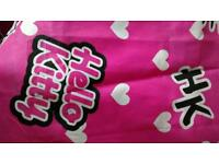 Hello kitty pink curtains for girls