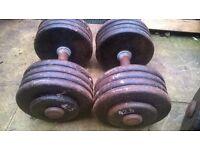 """professional dumbbell""""s ,dumbell""""s 2 x 42.5 kg"""