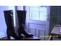 ladies Italian leather boots in kid