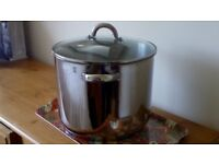 HORWOOD, LARGE, 8.5Ltr, HEAVY DUTY STAINLESS STEEL STOCKPOT or PRESERVE PAN