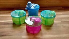 Powdered Milk Formula Dispenser Four x4 Munchkin & Boots Colourful Baby Child Kid (Still Available)
