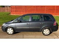 CHEAP 7 SEATER VAUXHALL ZAFIRA LIFE 1.6L (2007) 5 door years mot with low miles