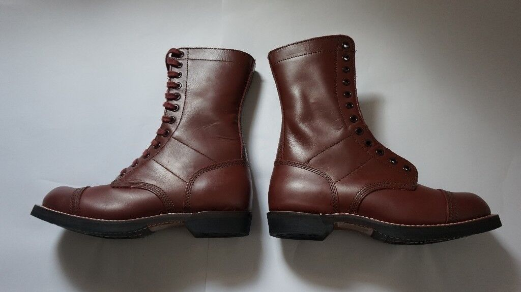 Mint: As new  US American Airborne Paratrooper Jump boots WWII Reenactment  Spec  Size 9/43  | in Norwich, Norfolk | Gumtree