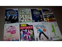 Wii fit /board/controllers and games as seen