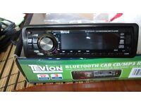 Hands free bluetooth car radio