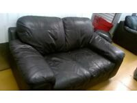 BLACK LEATHER 3+2 SEATER SOFAS - MUST GO ASAP - CHEAP DELIVERY - £225