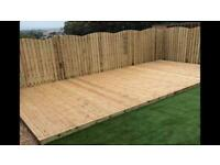 TREATED DECKING BOARDS & FENCING