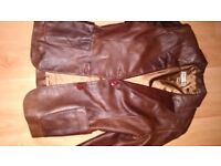 Real soft leather brown lady vintage jacket coat size 6-8 excellent condition. £5