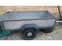 metal armour plated trailer, ideal for camping or any other use, sound, solid
