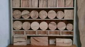 Hardwood timber seasoned turning blank craft