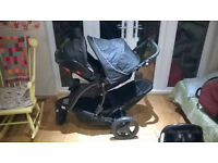 Graco Tandem Buggy with car seat (isofix)