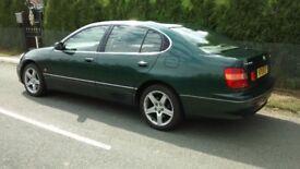 Lexus GS 300 SE Green - front corner Damage> but all works Fine - MOTd Taxed
