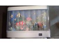 Children's fish scene revolving light