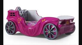 Childrens princes car bed very unique design last one(BRAND NEW) PINK