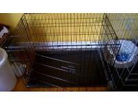nearly new medium dog crate