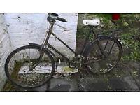 Old fashioned ladies Bicycle, bike