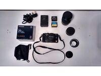 Panasonic GF1 Digital Camera, 20mm 1.7 lens plus Canon FD 70-300 zoom and FD>GF1 adapter