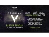Two tickets for Terminal V music festival- £85 or single £45