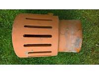 3 Terracotta chimney pot cowls