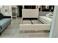🟡💛MORE AT LESS PRICE💛🟡Double Size Fully Plush Velvet lucy Beds Frame W Optional Mattress