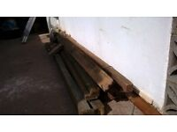 Free fence posts and other timber