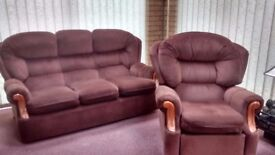 3 piece reclining suite