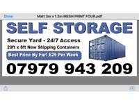 Storage shipping container rental